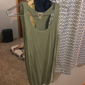 Lightly worn green tank top!
